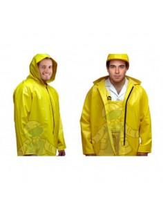 chaqueta impermeable con capucha de broches amarilla calibre 25 REF: 2530-55