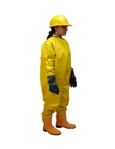 chaqueta impermeable con capucha cierre de broches amarilla calibre 20 REF: 2030-40